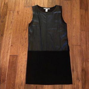 Diane Von Furstenberg Dinah Leather Panel Dress